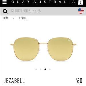 Quay Australia Jezabell Gold Round Sunglasses